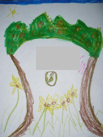 Child Drawing- Green-Living- Tree